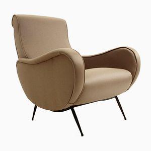 Mid-Century Italian Grey Armchair, 1950s