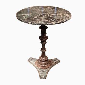 Antique Italian Bronze & Marble Gueridon, 1880s