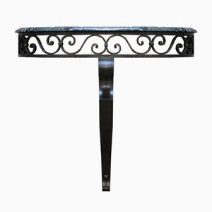 French Wrought-Iron Floating Console Table, 1960s