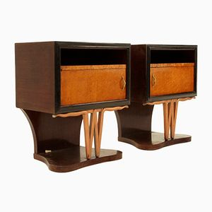 Tables de Chevet Mid-Century, 1940s, Set de 2