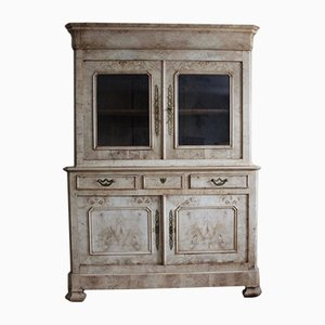 Antique French Bleached Ash Buffet A Deux Corps
