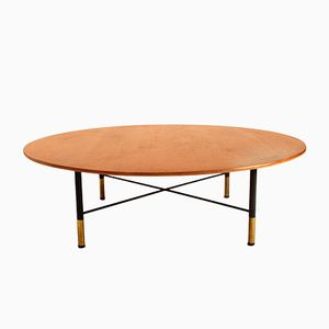 Italian Large Round Coffee Table, 1950s