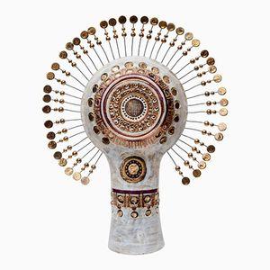 Lampada da tavolo Totem vintage in ceramica di Georges Pelletier