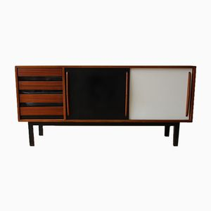 Ash, Steel, and Laminate Cansado Sideboard by Charlotte Perriand, 1950s