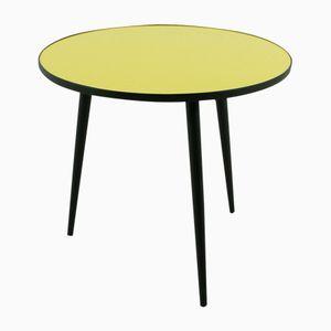 Table Basse Jaune & Noire, 1950s