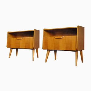 Mid-Century Cherry Bedside Cabinets from DeWe, 1950s, Set of 2