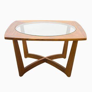 Table Basse Mid-Century en Teck & Verre, Danemark, 1960s