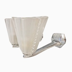 Italian Art Deco Wall Sconces from Venini, Set of 2