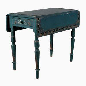 Blauer Ausziehbarer Antiker Konsolentisch, 1780er