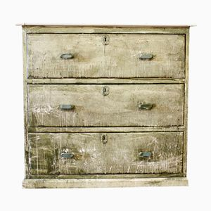 Green Patinated Chest of Drawers, 1930s