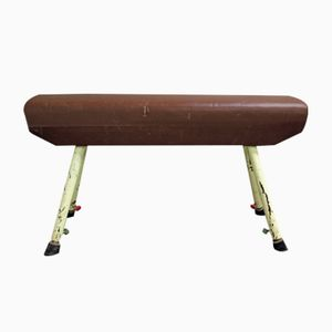 Vintage Russian Pommel Horse Bench, 1950s