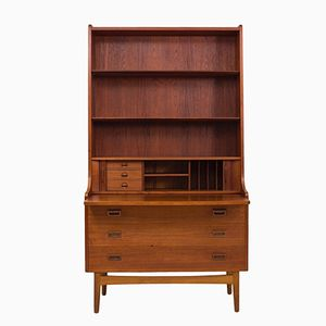 Mid-Century Danish Teak Bureau Book Shelf from Bornholm Mobler