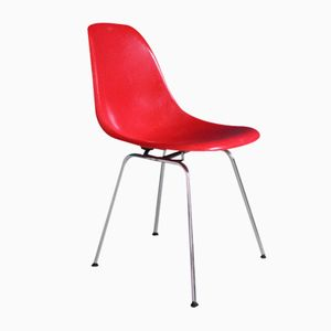 Red Side Chair with H-Base by Charles & Ray Eames for Vitra, 1970s