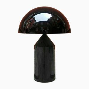 Schwarze Atollo Lampe von Vico Magistretti für Oluce