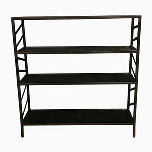 Black Metal Industrial Storage Rack, 1920s
