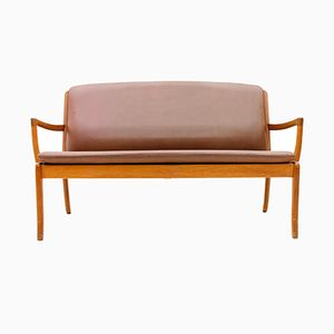 Teak & Leather Sofa by Ole Wanscher for Cado, 1960s