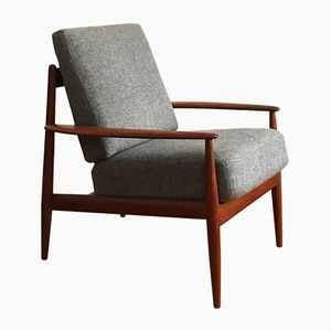 Mid-Century Lounge Chair by Grete Jalk for France & Daverkosen