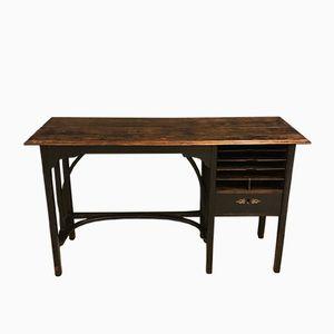Ebonisierter Vintage Bugholz Schreibtisch, 1920er