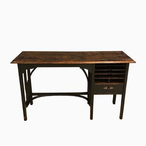 Vintage Ebonised Bentwood Desk, 1920s