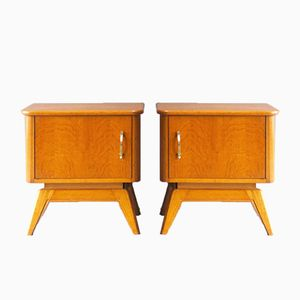 Mid-Century Dutch Night Stands, Set of 2