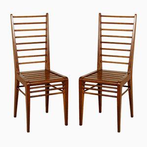 Oak Rationalist Chairs, 1940s, Set of 2