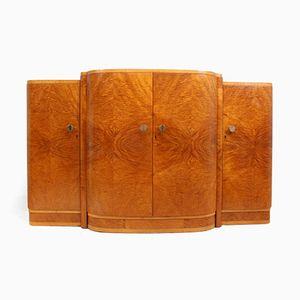 British Art Deco Satin Maple Sideboard, 1930s