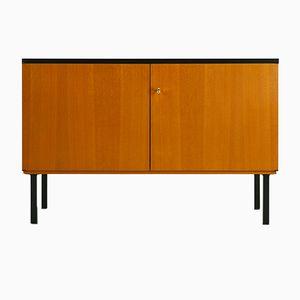 Black Ash Two Door Cabinet, 1960s
