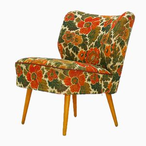 Cocktail Chair with Flower Pattern, 1950s