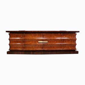 Macassar Ebony & Burr Walnut Art Deco Credenza, 1920s