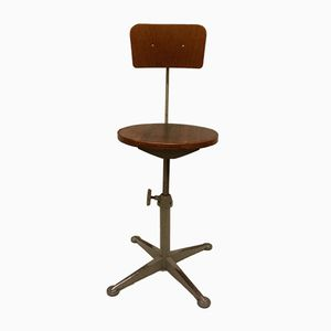 Adjustable Industrial Swivel Chair, 1960s