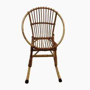 Children's Rattan Rocking Chair, 1960s