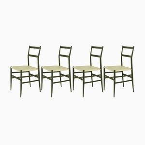 Superleggera Stühle von Gio Ponti für Cassina, 1957, 4er Set