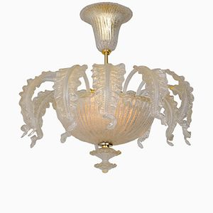 Murano Glass Chandelier from Barovier & Toso, 1955