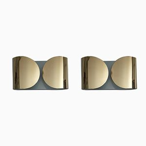 Italian Foglia Wall Lights by Tobia Scarpa for Flos, 1966, Set of 2