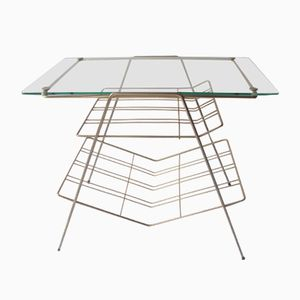 Glass and Chrome Table, 1950s
