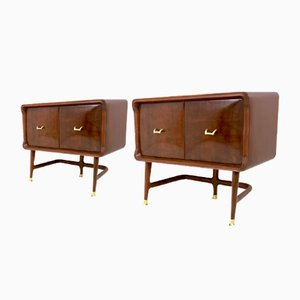 Mahogany Night Stands by Carlo De Carli, 1950s, Set of 2