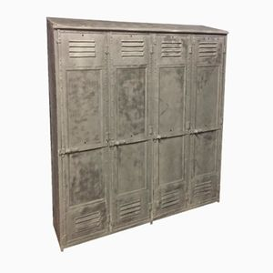 Vintage Riveted Industrial Locker