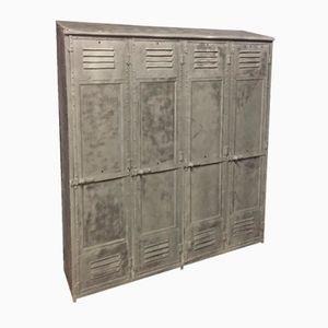 Vintage Riveted Industrial Locker