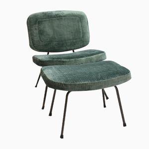 Vintage CM 190 Stuhl mit Ottoman von Pierre Paulin für Thonet