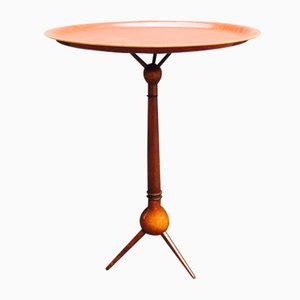 Walnut & Teak Tripod Tray Table by Severin Hansen, 1950s