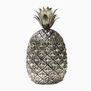 Cestello portaghiaccio a forma di ananas di Mauro Manetti per Fonderia d'Arte, anni '60