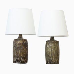 Keramik Tischlampen von Gunnar Nylund für Rörstrand, 1950er, 2er Set