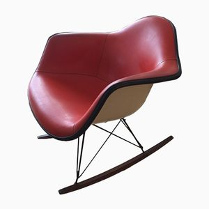 Rocking Chair Rouge-Orange par Charles & Ray Eames pour Herman Miller, 1970s