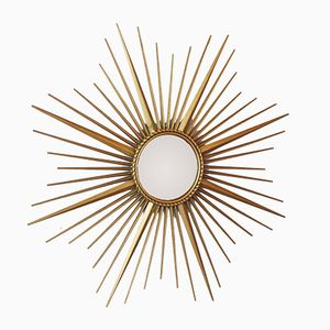 Gilded Sun Burst Mirror by Chaty for Vallauris