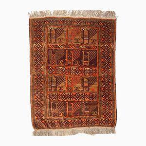 Afghanischer Handgeknüpfter Vintage Ersari Teppich, 1940er
