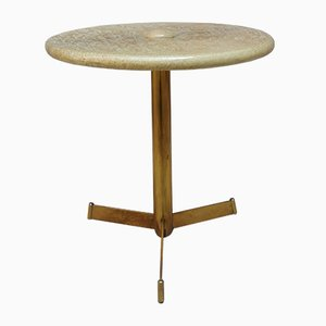 Parchment and Brass Table from Tura Milano, 1960s