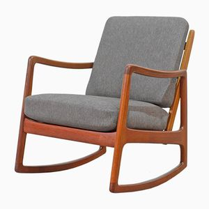FD 110 Teak Rocking Chair by Ole Wanscher for France & Søn, 1951