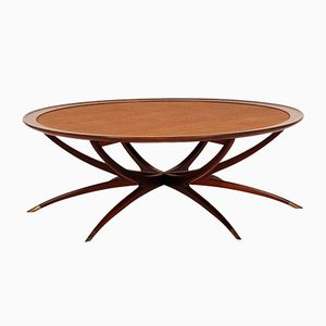 Mid-Century Coffee Table with Spider-Shaped Legs from Selig
