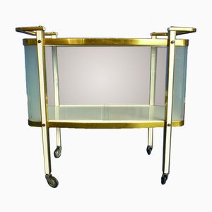 Mid-Century Italian Brass and Glass Bar Cart, 1950s
