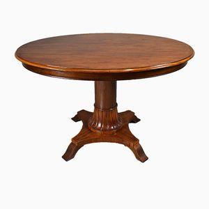 Centre de Table Oval Victorien Antique en Acajou